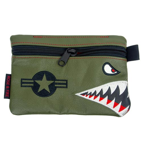 Rose & Fire Bomber/Warhawk Premium Leather Pouch