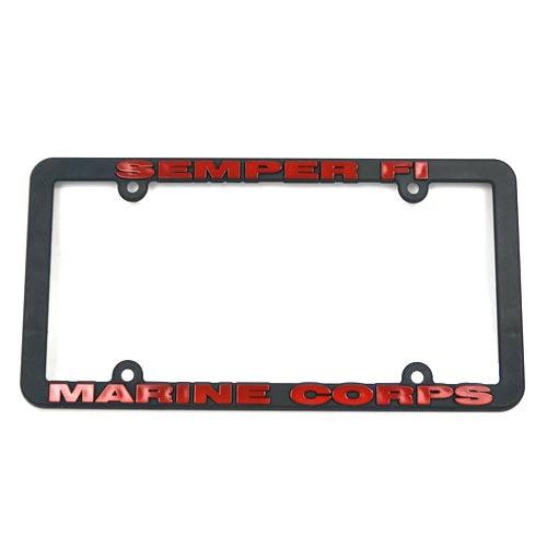 San Diego Gift Marines Plastic License Plate Frames