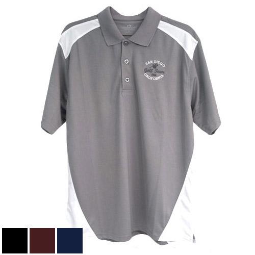 San Diego Gift Omega Sport Block Polo Shirts (#2613)