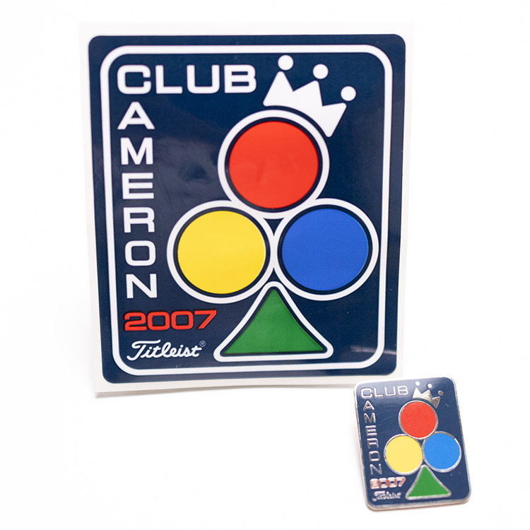 Scotty Cameron 2007 Club Member Sticker and Pin