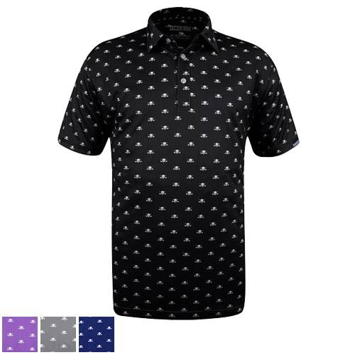 Tattoo Golf Micro Skull ProCool Golf Shirts
