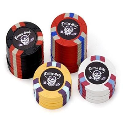 Tattoo Golf Casino Chip Ball Markers