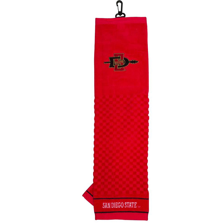 NCAA San Diego State Embroidered Golf Towel