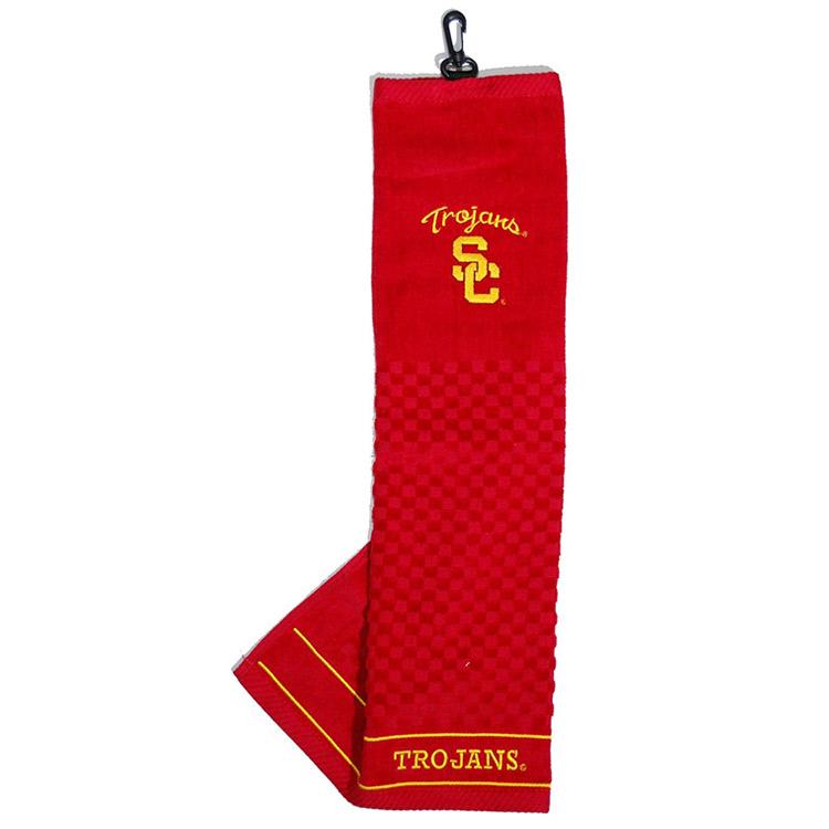 NCAA USC Trojans Embroidered Golf Towel