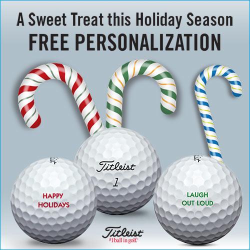 Titleist 2019 Holiday Free Personalization Golf Balls
