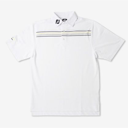 Vokey Design Solid Texture Chest Stripe Polo Shirts