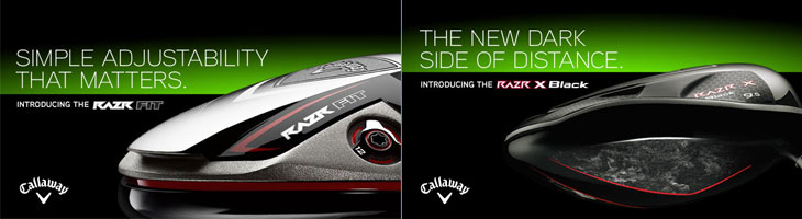 キャロウェイ キャロウェイゴルフ レイザー レーザー フィット レイザー X Callaway RAZR Fit & RAZR X Black レガシーブラック 新発売!! ドライバー、フェアウェイウッド、ハイブリッド、アイアン