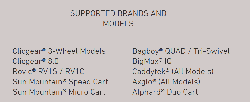 eWheels Supported Models