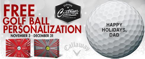 Callaway 2017 Free Personalization Chrome Soft Golf Balls