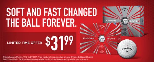 Callaway Chrome Soft $31.99