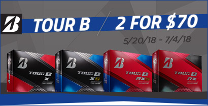 Bridgestone TOUR B Series 2 for $70 Promotion